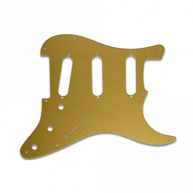 WD Music Old Style 11 Hole Strat - Gold/Clear/Gold