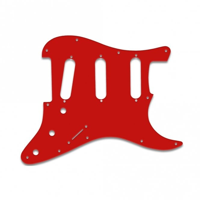 WD Music Old Style 11 Hole Strat - Red White Red