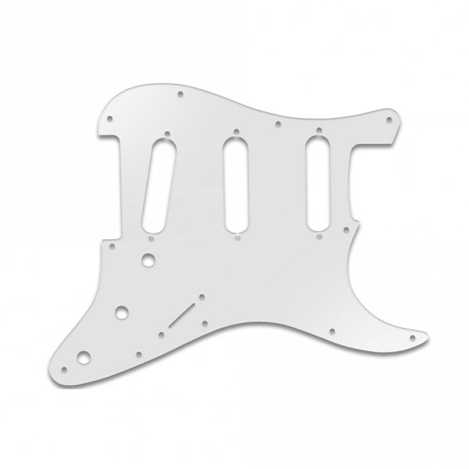 WD Music Old Style 11 Hole Strat - Trans Milk White