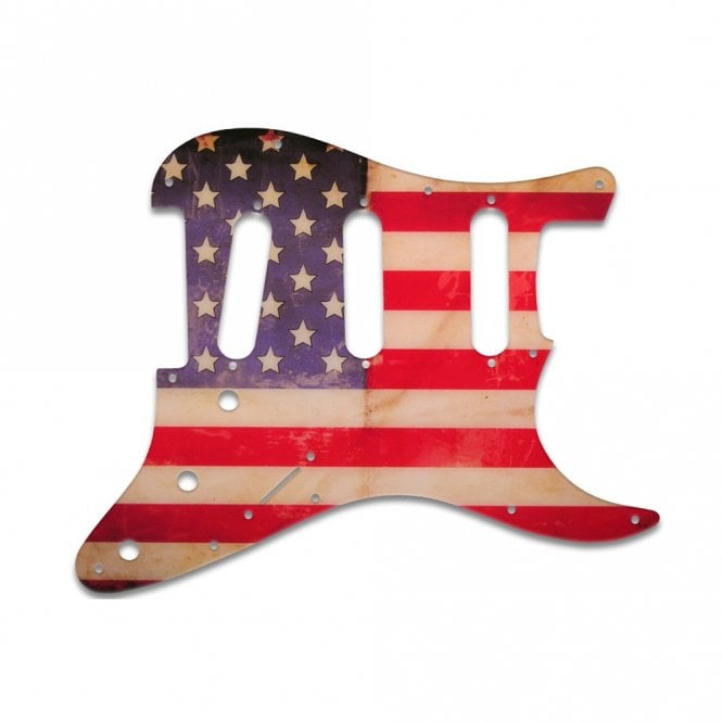 WD Music Old Style 11 Hole Stratocaster - American Flag Relic