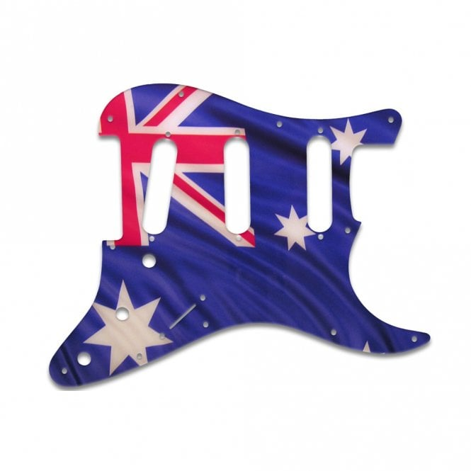 WD Music Old Style 11 Hole Stratocaster - Aussie Flag
