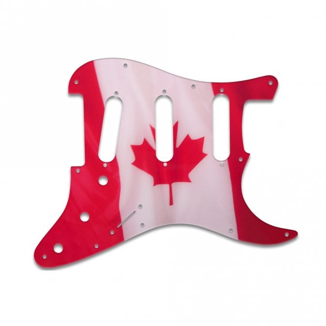 WD Music Old Style 11 Hole Stratocaster - Canadian Flag