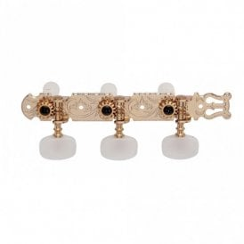 Classical Tuners with white pearloid buttons, mounting screws included