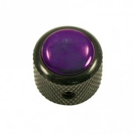 Dome knob - Acrylic cap - Pearl Purple / Black base