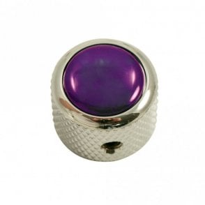 Dome knob - Acrylic cap - Pearl Purple / Chrome base