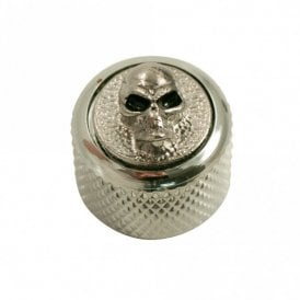 Dome knob - Angry Skull cap - Chrome / Chrome base