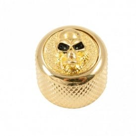 Dome knob - Angry Skull cap - Gold / Gold base