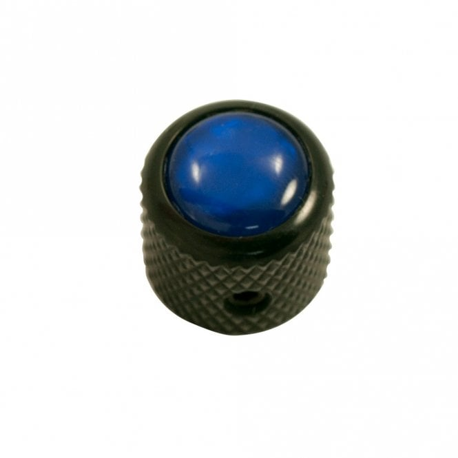 Q Parts Mini - Dome knob - Acrylic cap - Pearl Blue / Black Chrome Base