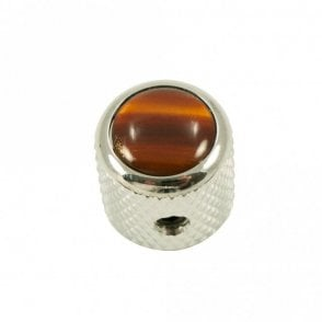 Mini - Dome knob - Acrylic cap - Tortoise / Chrome Base