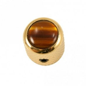 Mini - Dome knob - Acrylic cap - Tortoise / Gold Base