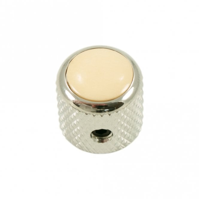 Q Parts Mini - Dome knob - Bone cap - Ivory / Chrome base
