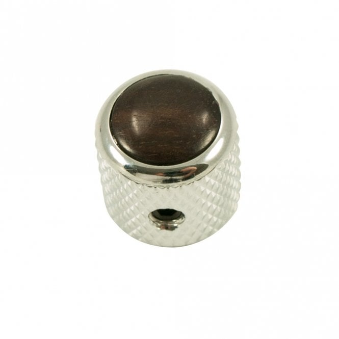 Q Parts Mini - Dome knob - Hardwood cap - Ebony / Chrome base