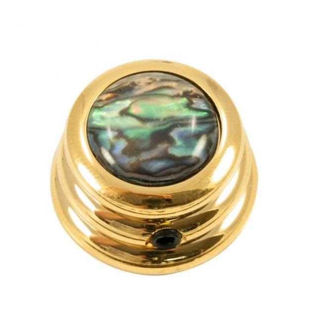 Q Parts Ringo knob - Abalone Shell cap - Natural / Gold base