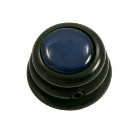 Ringo knob - Acrylic cap - Pearl Blue / Black Chrome Base