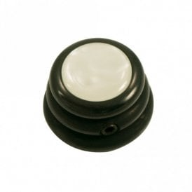 Ringo knob - Acrylic cap - Pearl White / Black Chrome Base