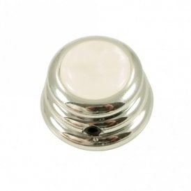 Ringo knob - Acrylic cap - Pearl White / Chrome base