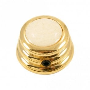 Ringo knob - Bone cap - Ivory / Gold base