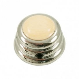 Ringo knob - Cream Cap / Chrome base