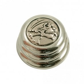 Ringo knob - Skull N' Bone cap - Chrome / Chrome base