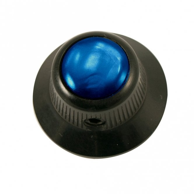 Q Parts UFO knob - Abalone Shell cap - Blue / Black Base