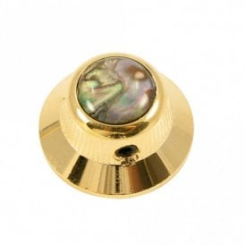 UFO knob - Abalone Shell cap - Natural / Gold base