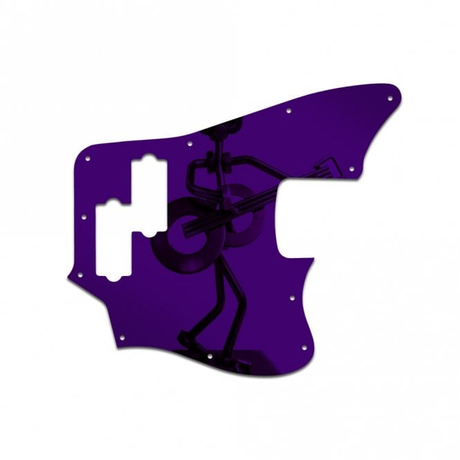 WD Music Squier Vintage Modified Jaguar Bass - Purple Mirror