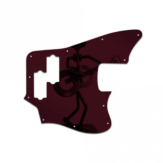 WD Music Squier Vintage Modified Jaguar Bass - Red Mirror