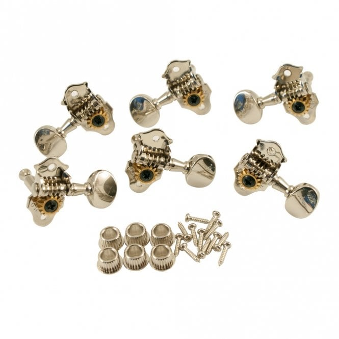 Grover Sta-Tite Tuners 3 Per Side Vertical Nickel