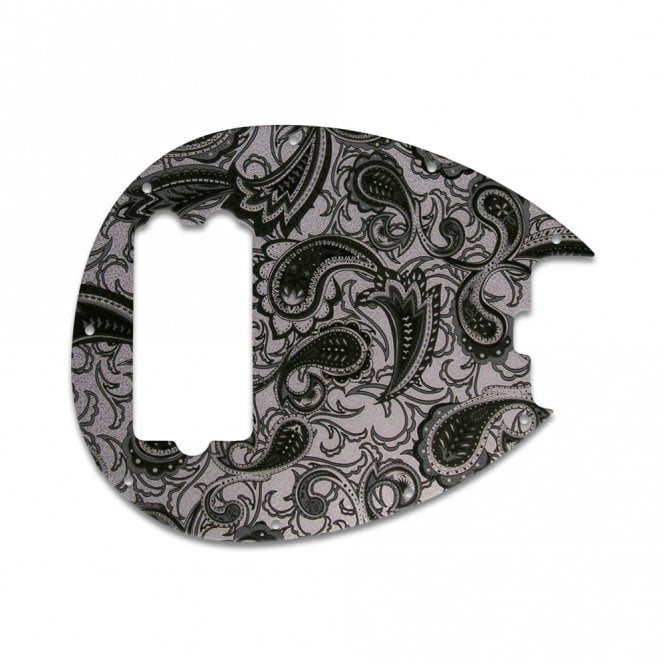 WD Music Sterling Bass - Black/Silver Paisley