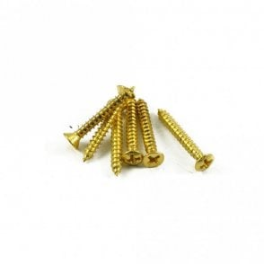 Strap Button Screw Gold (Bag of 6)