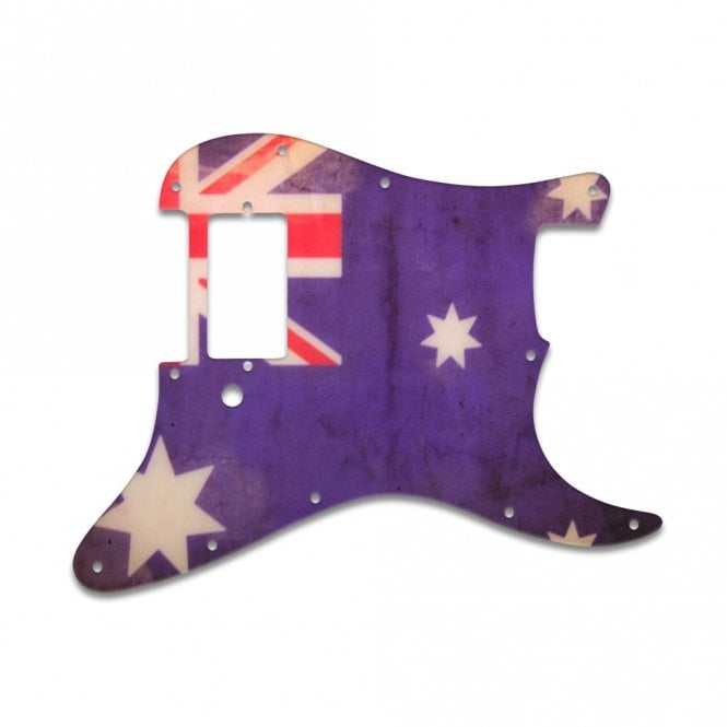 WD Music Strat 1 Humbucker Only - Aussie Flag Relic