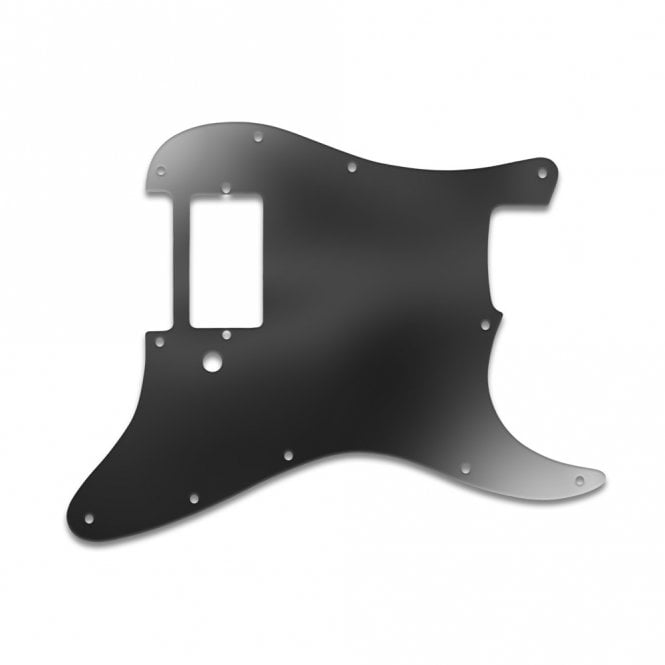 WD Music Strat 1 Humbucker Only - Black Acrylic