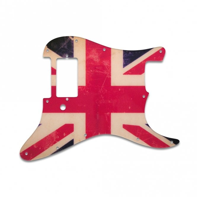 WD Music Strat 1 Humbucker Only - British Flag Relic
