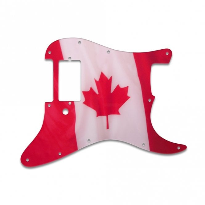 WD Music Strat 1 Humbucker Only - Canadian Flag