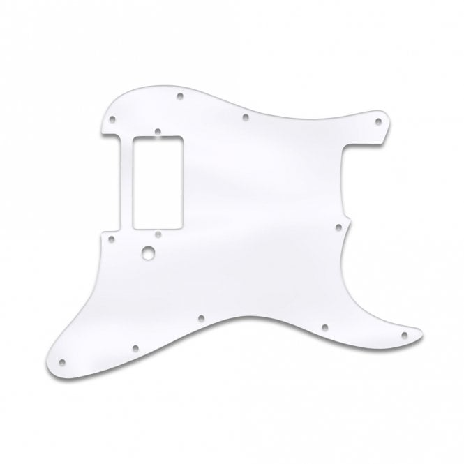WD Music Strat 1 Humbucker Only - Clear Acrylic (.125)
