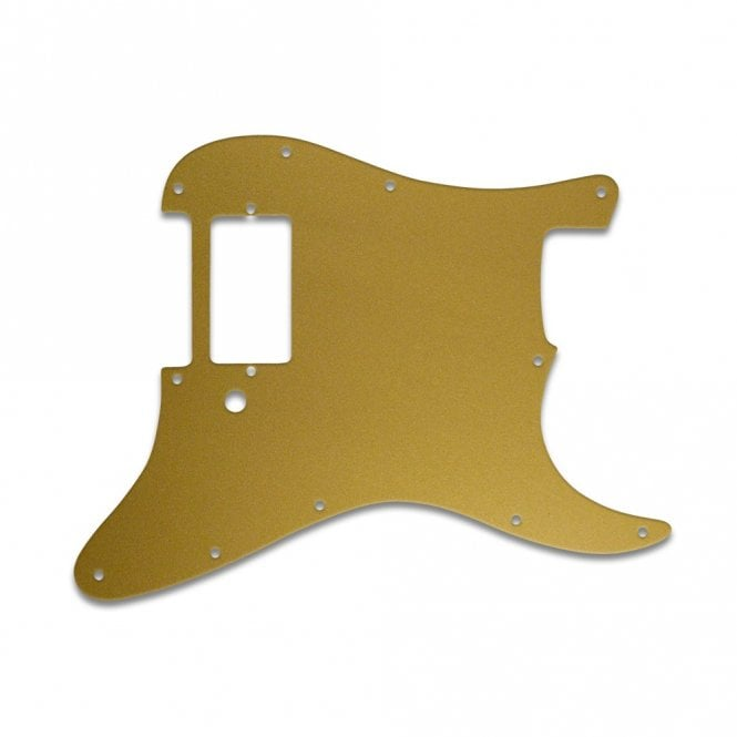 WD Music Strat 1 Humbucker Only - Gold/Clear/Gold