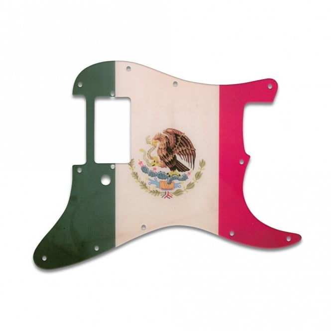 WD Music Strat 1 Humbucker Only - Mexican Flag Relic