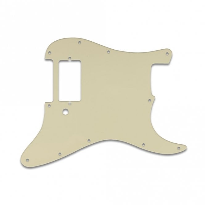 WD Music Strat 1 Humbucker Only - Parchment Solid