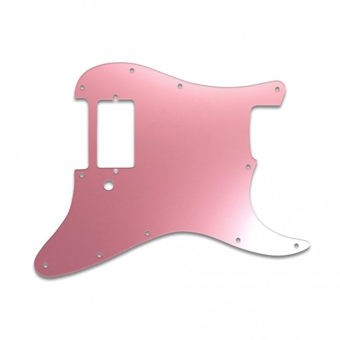 WD Music Strat 1 Humbucker Only - Pink Mirror