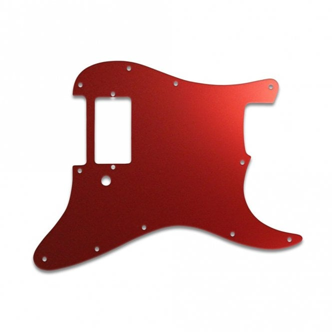 WD Music Strat 1 Humbucker Only - Red Mirror