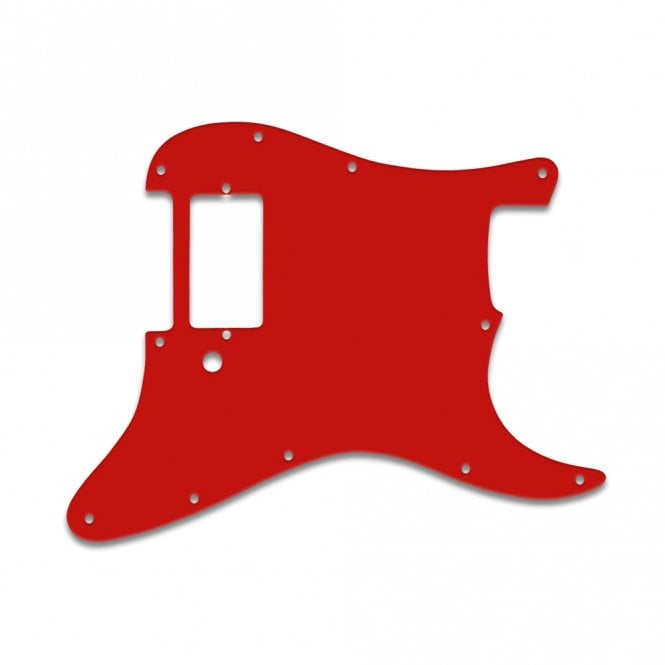 WD Music Strat 1 Humbucker Only - Red White Red