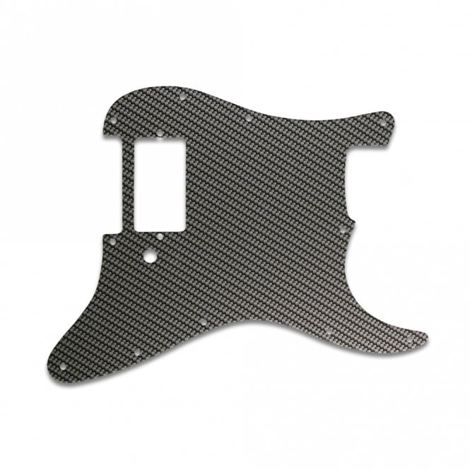 WD Music Strat 1 Humbucker Only - Simulated Carbon Fiber