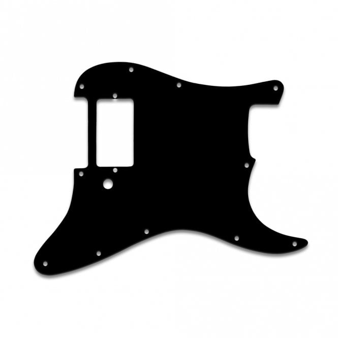 "WD Music Strat 1 Humbucker Only  - Solid Black .090"" / 2.29mm thick with bevel"