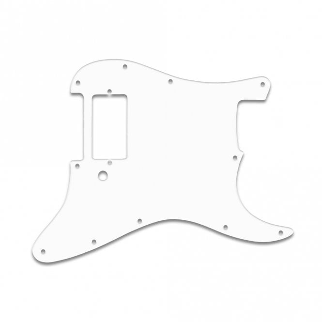 "WD Music Strat 1 Humbucker Only  - Solid White .090"" / 2.29mm thick with bevel"
