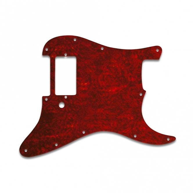 WD Music Strat 1 Humbucker Only - Tortoise Shell Red