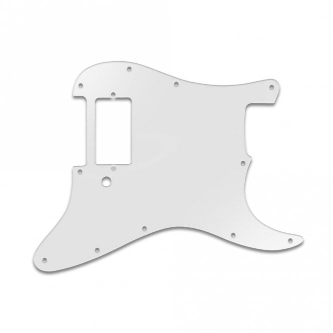 WD Music Strat 1 Humbucker Only - Trans Milk White