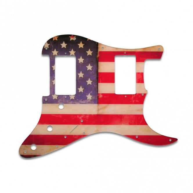WD Music Strat 2 Hums - American Flag Relic