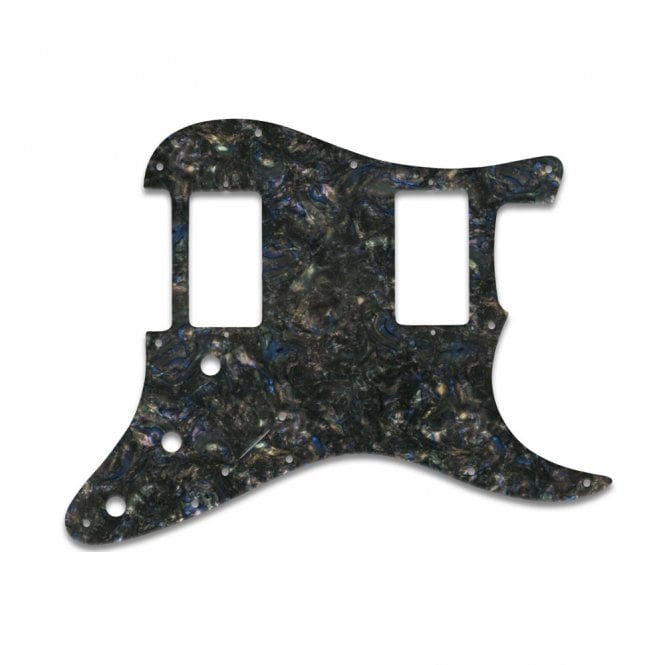 WD Music Strat 2 Hums - Black Abalone
