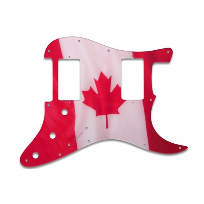 WD Music Strat 2 Hums - Canadian Flag