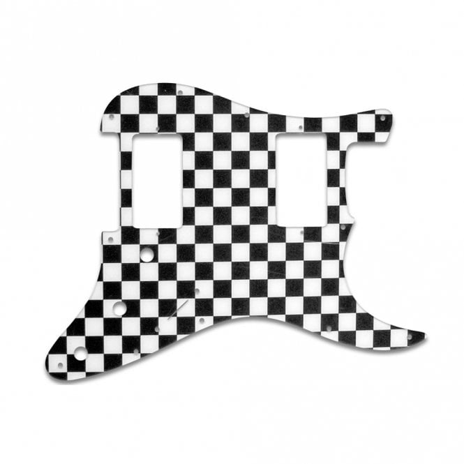 WD Music Strat 2 Hums - Checkerboard